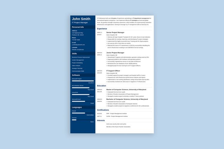 Resume services in France